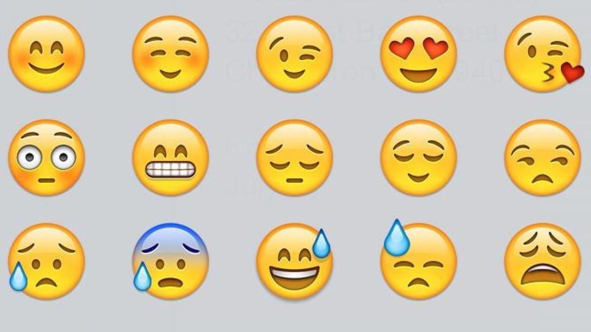 Smileys, Emojis und Emoticons Gesichter und Emotionen bedeutung