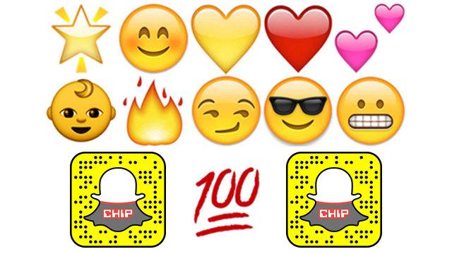 Snapchat smileys bedeutung