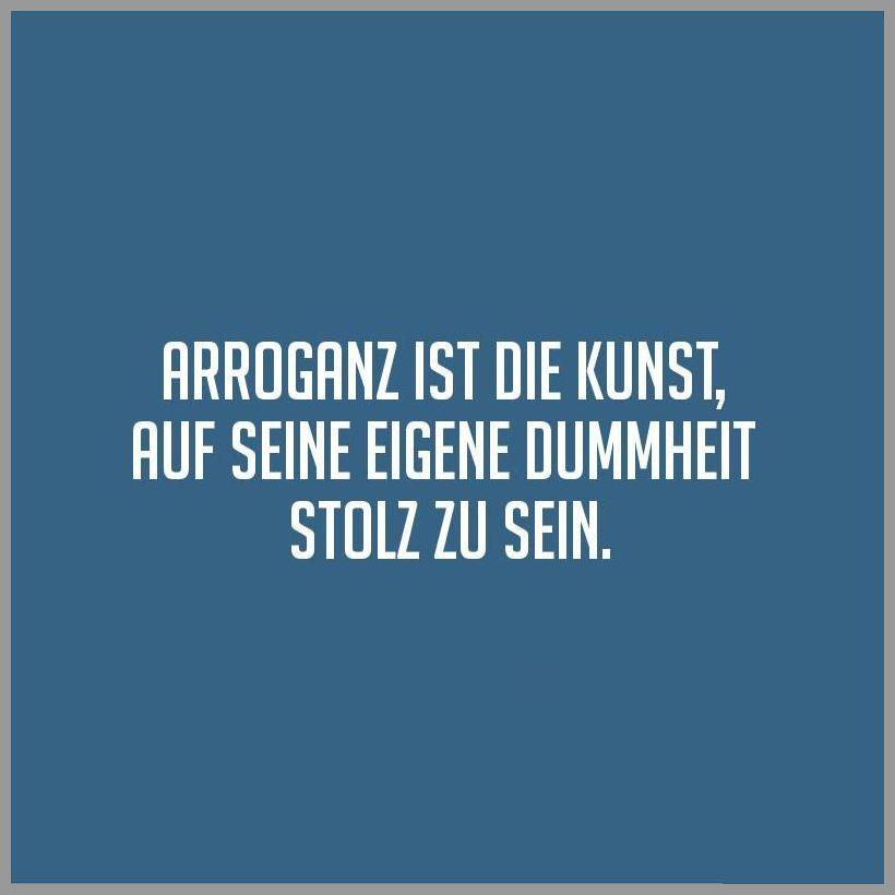Arroganz ist die kunst auf seine eigene dummheit stolz zu sein - Arroganz ist die kunst auf seine eigene dummheit stolz zu sein