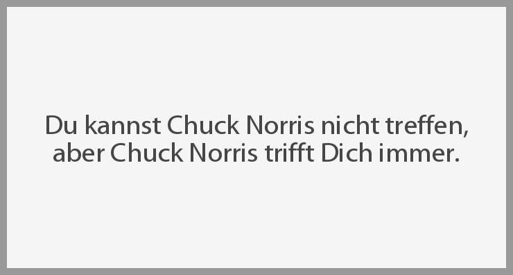 Du kannst chuck norris nicht treffen aber chuck norris trifft dich immer - Du kannst chuck norris nicht treffen aber chuck norris trifft dich immer