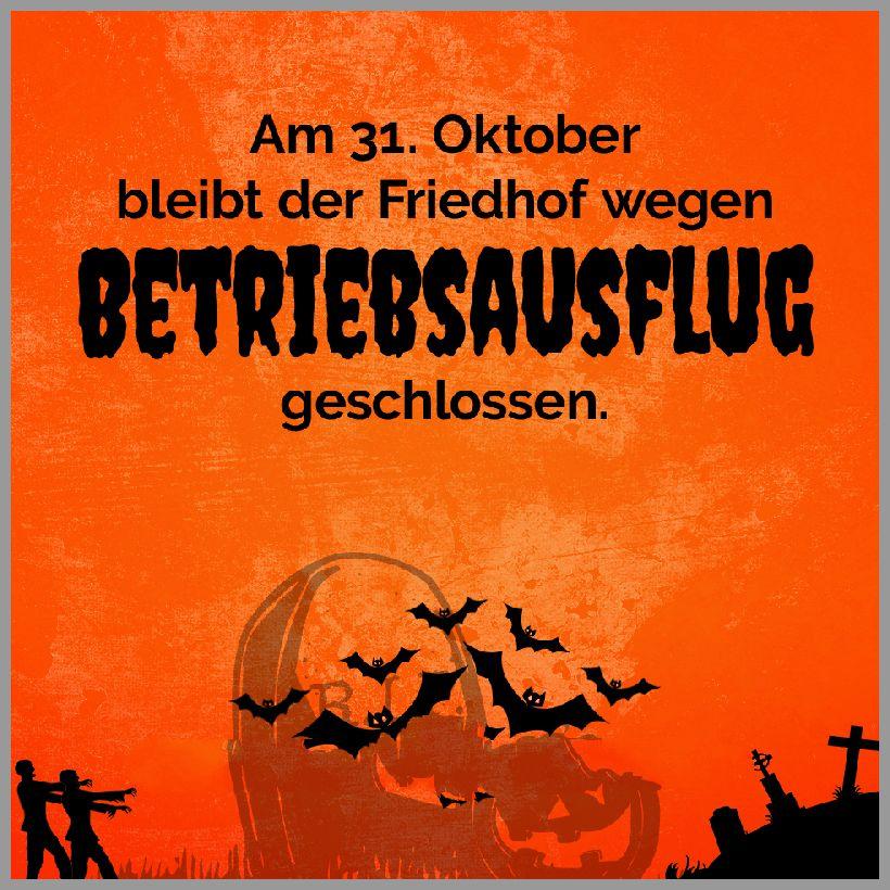 Halloween friedhof wegen betriebsausflug geschlossen - Halloween friedhof wegen betriebsausflug geschlossen