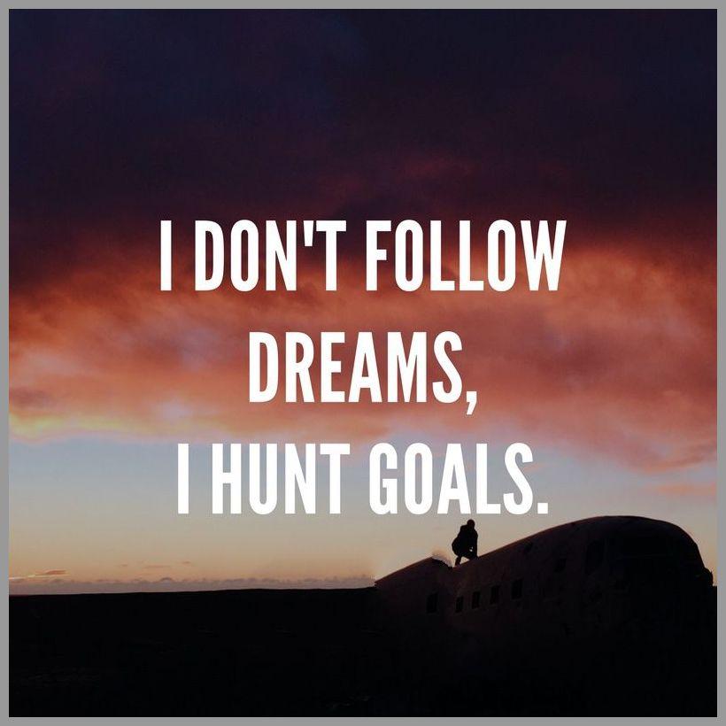 I don t follow dreams i hunt goals - I don t follow dreams i hunt goals