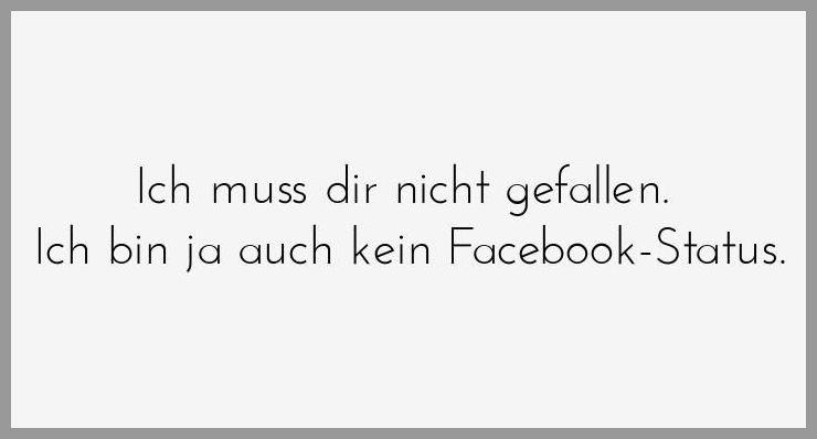 Ich muss dir nicht gefallen ich bin ja auch kein facebook status - Ich muss dir nicht gefallen ich bin ja auch kein facebook status