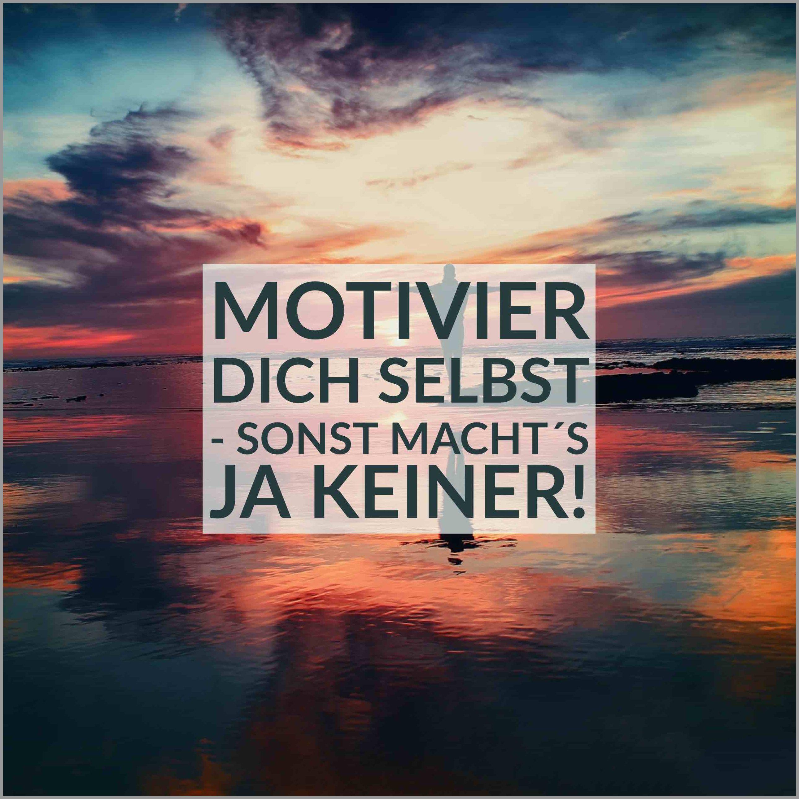 Motivier dich selbst sonst macht s ja keiner - Motivier dich selbst sonst macht s ja keiner