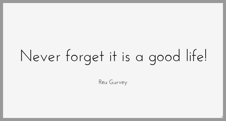 Never forget it is a good life - Never forget it is a good life