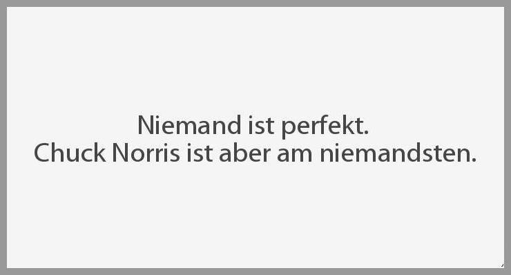 Niemand ist perfekt chuck norris ist aber am niemandsten - Niemand ist perfekt chuck norris ist aber am niemandsten