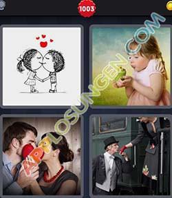 4 bilder 1 wort level 1003 lösung KUSSEN - 4 bilder 1 wort level 1003 lösung KUSSEN
