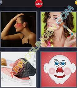 4 bilder 1 wort level 2298 lösung SCHMINKE - 4 bilder 1 wort level 2298 lösung SCHMINKE