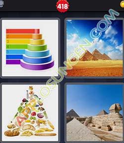 4 bilder 1 wort level 418 lösung PYRAMIDE - 4 bilder 1 wort level 418 lösung PYRAMIDE