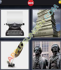4 bilder 1 wort level 805 lösung DICHTER - 4 bilder 1 wort level 805 lösung DICHTER