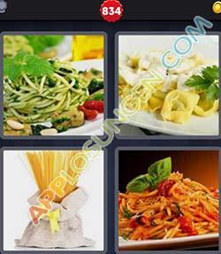 4 bilder 1 wort level 834 lösung PASTA - 4 bilder 1 wort level 834 lösung PASTA