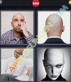4 bilder 1 wort level 999 lösung GLATZE - 4 bilder 1 wort level 999 lösung GLATZE
