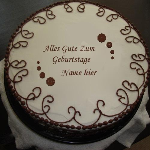 Geburtstagskuchen 10 1 - Grenzschokoladen Kuchen mit Namen
