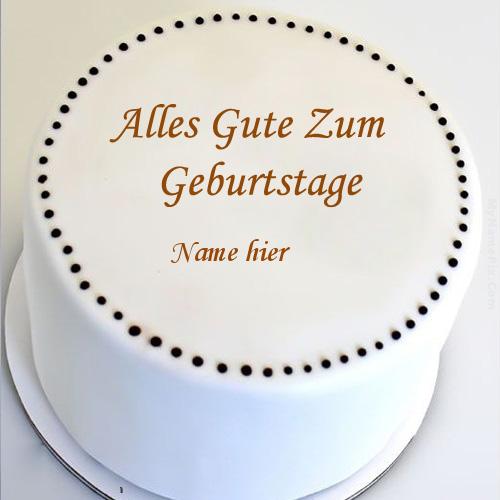 Geburtstagskuchen 15 1 - Einfacher runder Kuchen mit Namen