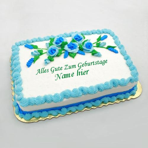 Geburtstagskuchen 20 2 - Geburtstags Blumen Kuchen mit Namen