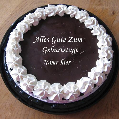 Geburtstagskuchen 25 - Fantastischer Schokoladen Eiscreme Geburtstagskuchen mit Namen