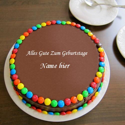 Geburtstagskuchen 26 - Geburtstags Schokoladen Brötchen Kuchen mit Namen