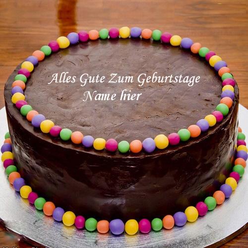 Geburtstagskuchen 29 - Schokoladen Ball Geburtstagskuchen mit Namen