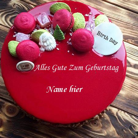 Geburtstagskuchen 3 - Schreiben Sie Ihren Namen auf einen glücklichen Geburtstagskuchen