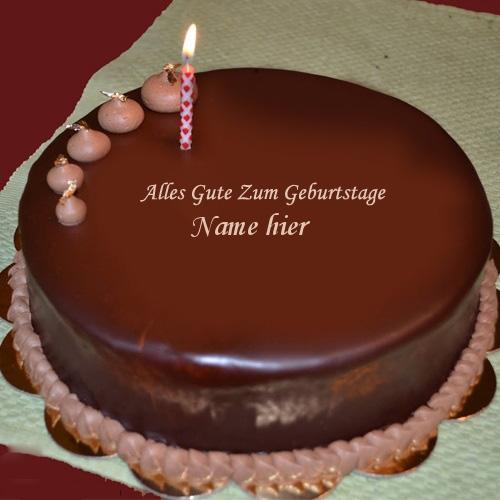 Geburtstagskuchen 32 - Einfacher Schokoladen Kuchen mit Namen