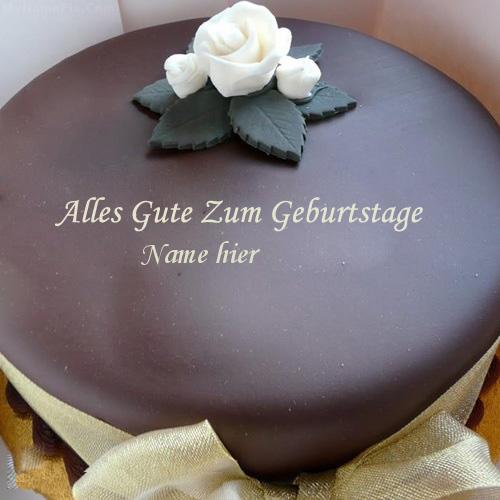 Geburtstagskuchen 36 - Schöner Schokoladenkuchen mit Namen