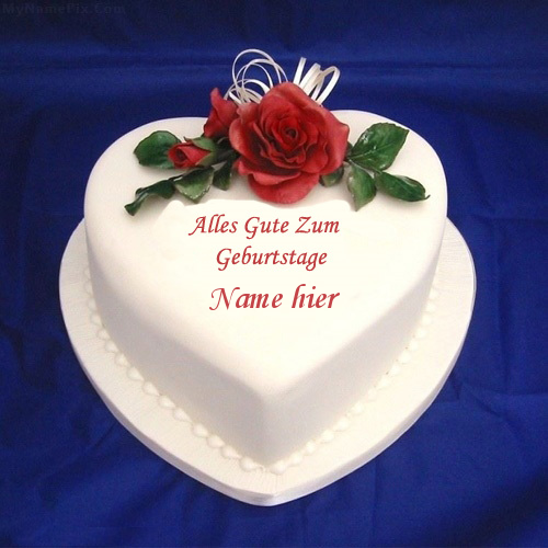 Geburtstagskuchen 37 - Herz Eiscreme Kuchen mit Namen