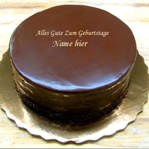 Geburtstagskuchen 38 - Geburtstags Schokoladen Kuchen mit Namen