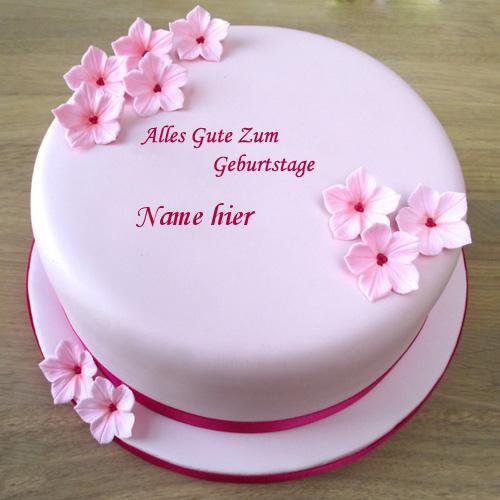 Geburtstagskuchen 4 - Rosa Geburtstagskuchen mit Namen