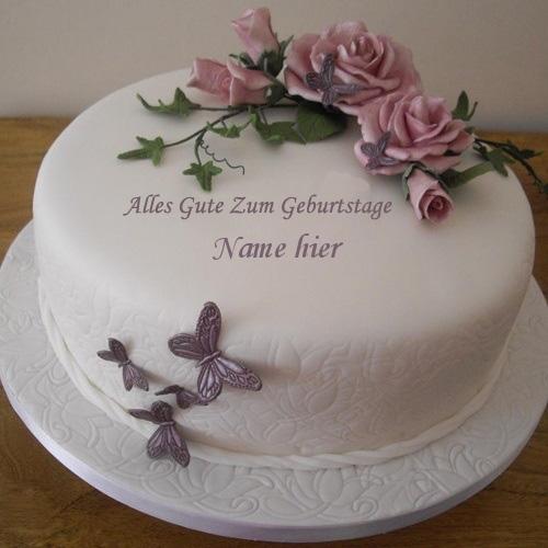 Geburtstagskuchen 41 1 - Geburtstags Blumenkuchen mit Namen