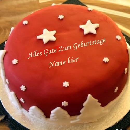 Geburtstagskuchen 41 - Cooler Geburtstagskuchen mit Namen