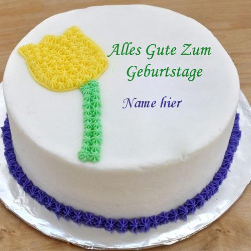 Geburtstagskuchen 42 - Blumen Geburtstagskuchen mit Namen