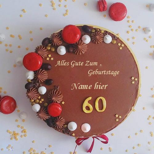 Geburtstagskuchen 6 1 - Erstaunlich dekorierte 60 Geburtstag Kuchen mit Namen