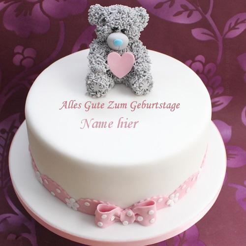 Geburtstagskuchen 7 1 - Teddy Geburtstagskuchen mit Namen