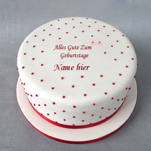 Geburtstagskuchen 8 1 - Polka Geburtstagskuchen mit Namen
