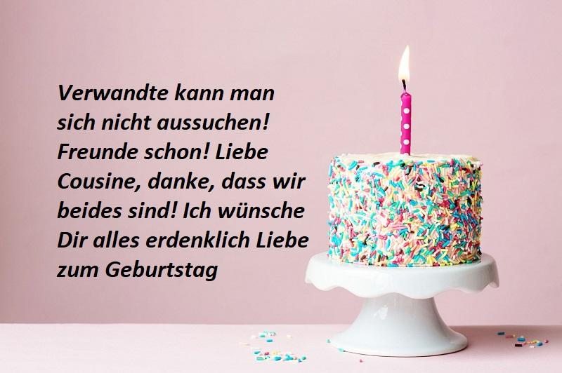 Glückwünsche für die Cousine zum Geburtstag