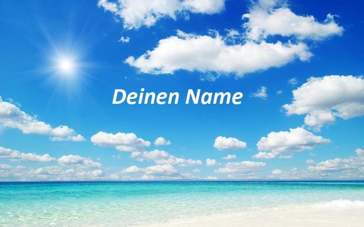Himmel - Namen mit Wolken in den Himmel schreiben