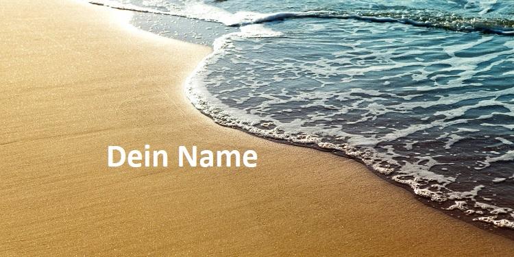 sandbeach - ich schreib deinen namen in den sand