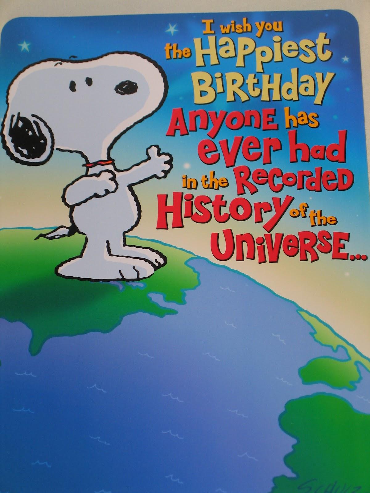 Happy Birthday Snoopy Charlie Browns Beagle Feiert 47