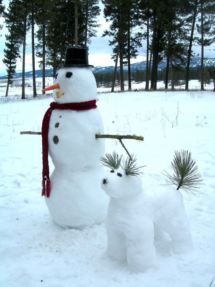 Lustige Schneemänner - Lustige Schneemänner