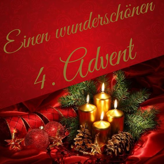 Viel Grüße Zum 4 Advent Bilder Und Sprüche Für Whatsapp