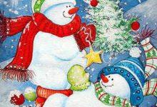 Winter Schneemann 220x150 - Winter Schneemann