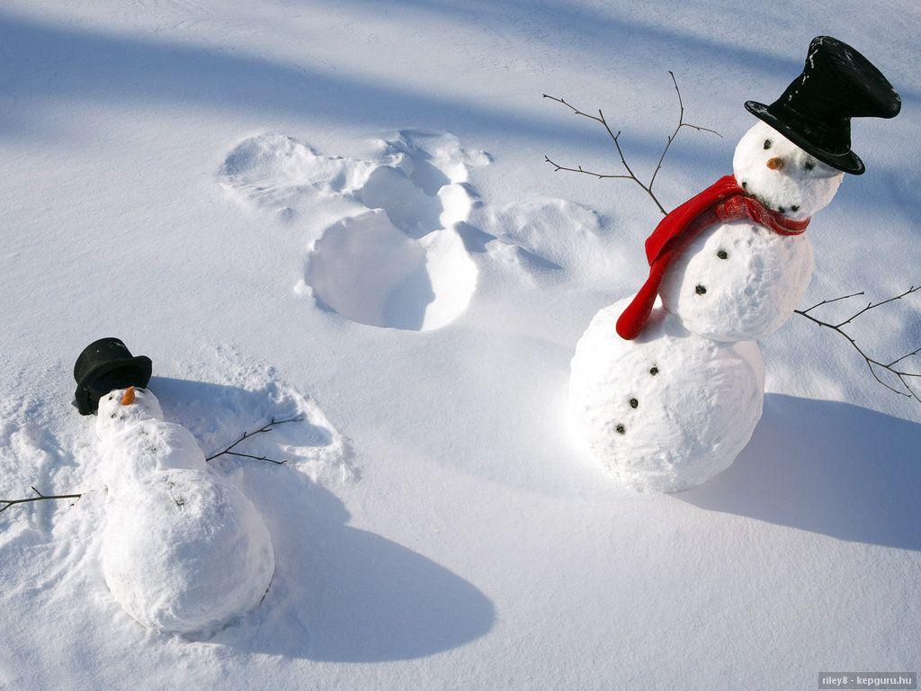 Witzige Schneemänner - Witzige Schneemänner