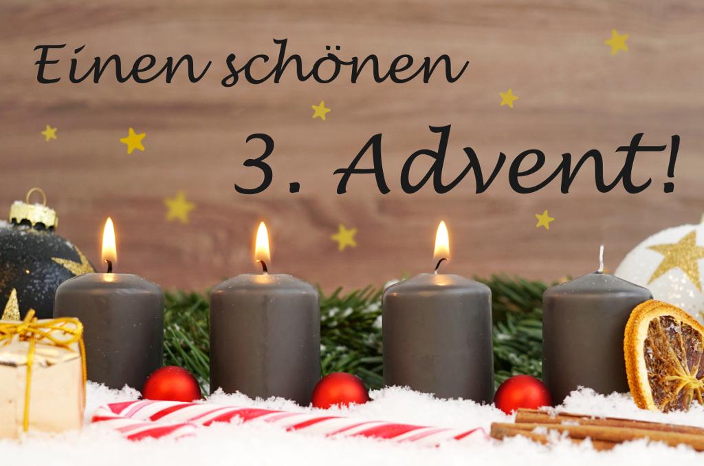 kostenlose grüße zum 3.advent | Bilder und Sprüche für ...