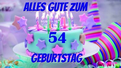 Alles Gute Zum 54 Geburtstag  390x220 - Alles Gute Zum 54 Geburtstag