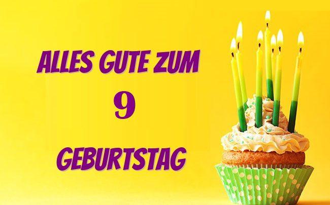Geburtstagswünsche Zum 9. Geburtstag