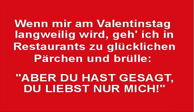 Valentinstag lustig