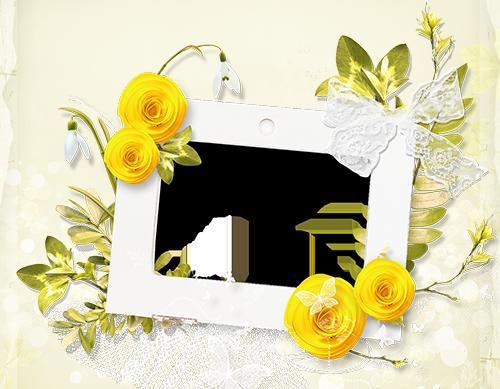 Blumen Fotorahmen - Blumen Fotorahmen