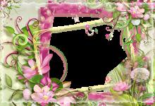Fotorahmen Fotorahmen mit rosa und grünen Blumen Liebesrahmen 220x150 - Fotorahmen Fotorahmen mit rosa und grünen Blumen Liebesrahmen