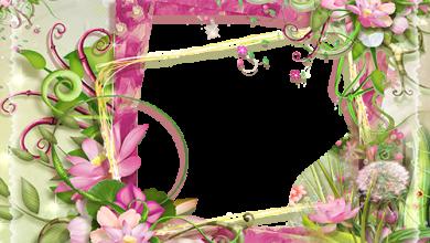 Fotorahmen Fotorahmen mit rosa und grünen Blumen Liebesrahmen 390x220 - Fotorahmen Fotorahmen mit rosa und grünen Blumen Liebesrahmen