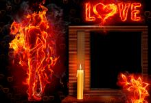 Liebe wie Feuer Fotorahmen 220x150 - Liebe wie Feuer Fotorahmen